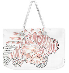 Sketch Of Lion Fish At London Aquarium Weekender Tote Bag
