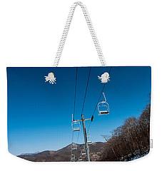 Ski Lift Weekender Tote Bag