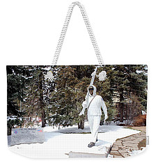 Ski Trooper Weekender Tote Bag by Fiona Kennard