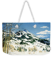 Skiers Paradise Weekender Tote Bag by Barbara Jewell