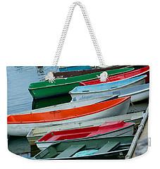 Weekender Tote Bag featuring the photograph Skiff Peek by Kristen Fox