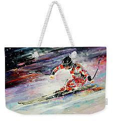 Skiing 01 Weekender Tote Bag