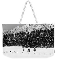 Skiing In The White Weekender Tote Bag