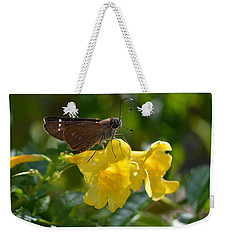 Weekender Tote Bag featuring the photograph Skipper Butterfly 2 by Debra Martz