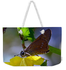 Weekender Tote Bag featuring the photograph Skipper Butterfly by Debra Martz
