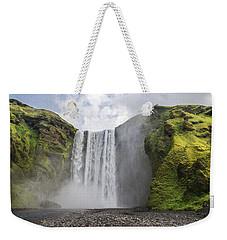 Skogarfoss Waterfall Weekender Tote Bag
