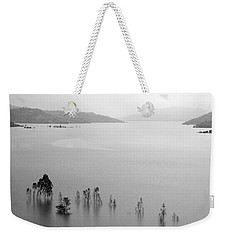 Skc 0055 A Hazy Riverscape Weekender Tote Bag by Sunil Kapadia