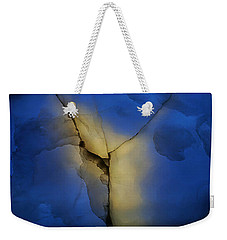 Skc 0243 Cracked Y Weekender Tote Bag by Sunil Kapadia