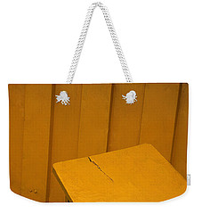 Skc 1496 A Tea Shack Bench Weekender Tote Bag by Sunil Kapadia