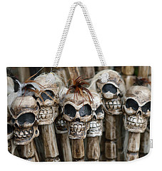 Skull Sticks Weekender Tote Bag