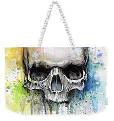 Skull Watercolor Painting Weekender Tote Bag