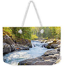 Skutz Falls At Cowichan River Provincial Park Weekender Tote Bag