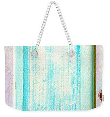 Weekender Tote Bag featuring the sculpture Sky Blue Entrance Entre Vous by Asha Carolyn Young