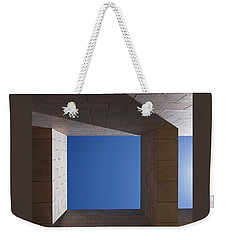 Sky Box At The Getty  Weekender Tote Bag by Rona Black