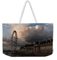 Sky Drama Around The London Eye Weekender Tote Bag by Georgia Mizuleva