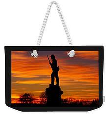 Sky Fire - 128th Pennsylvania Volunteer Infantry A1 Cornfield Avenue Sunset Antietam Weekender Tote Bag