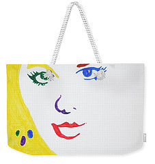 Blonde Mother Nature Weekender Tote Bag