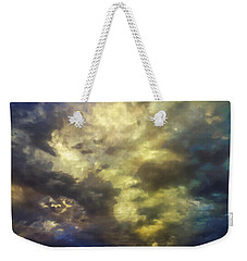 Weekender Tote Bag featuring the photograph Sky Moods - Abstract by Glenn McCarthy Art and Photography