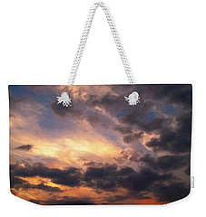 Weekender Tote Bag featuring the photograph Sky Moods - Depth by Glenn McCarthy