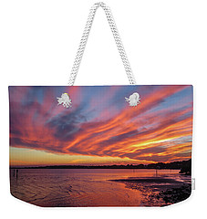 Sky On Fire Weekender Tote Bag by Jane Luxton
