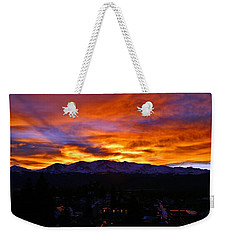 Weekender Tote Bag featuring the photograph Sky Shadows by Jeremy Rhoades