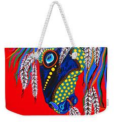 Weekender Tote Bag featuring the painting Sky Spirit by Debbie Chamberlin