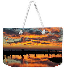 Sky Writing Weekender Tote Bag