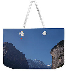 Skydiver Over Lauterbrunnen Weekender Tote Bag