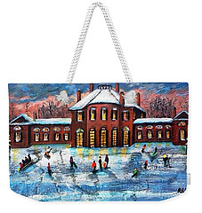 Sledding At The Gore Estate Weekender Tote Bag by Rita Brown
