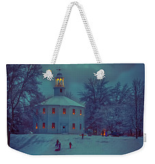 Sledding At The Old Round Church Weekender Tote Bag by Jeff Folger