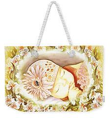 Sleeping Baby Vintage Dreams Weekender Tote Bag by Irina Sztukowski