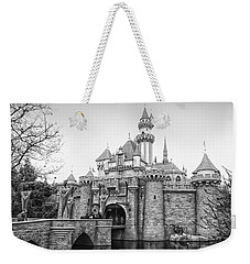 Sleeping Beauty Castle Disneyland Side View Bw Weekender Tote Bag