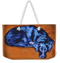 Sleeping Blue Dog Labrador Retriever Weekender Tote Bag