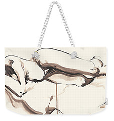 Sleeping Nude Weekender Tote Bag by Melinda Dare Benfield