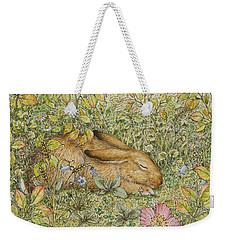 Sleepy Bunny Weekender Tote Bag