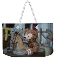 Weekender Tote Bag featuring the photograph Sleepy Cowboy Bear by Thomas Woolworth