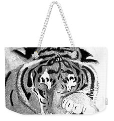 Sleepy Tiger Weekender Tote Bag