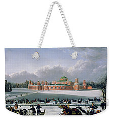 Sleigh Race At The Petrovsky Park In Moscow Weekender Tote Bag