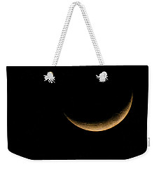 Slender Waxing Crescent Moon Weekender Tote Bag by Katie Wing Vigil