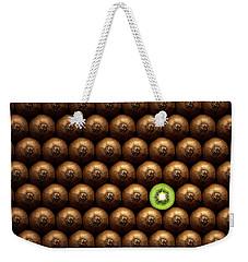 Sliced Kiwi Between Group Weekender Tote Bag by Johan Swanepoel