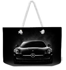 Weekender Tote Bag featuring the digital art Sls Black by Douglas Pittman
