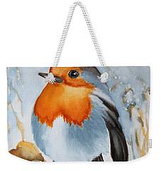 Small Bird Weekender Tote Bag by Inese Poga