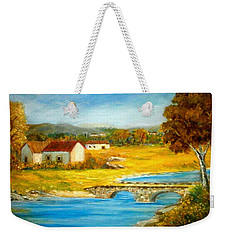 Small Cottage Weekender Tote Bag