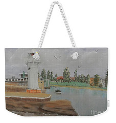 Small Lighthouse At Wollongong Harbour Weekender Tote Bag