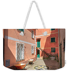 small square in Camogli Weekender Tote Bag