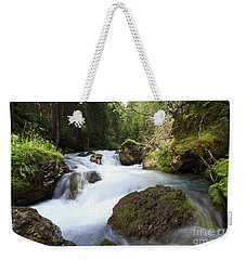 Weekender Tote Bag featuring the photograph Small Stream by Antonio Scarpi