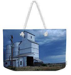 Weekender Tote Bag featuring the photograph Small Town Hot Night Big Storm by Cathy Anderson