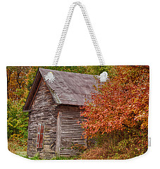 Small Wooden Shack In The Autumn Colors Weekender Tote Bag by Jeff Folger
