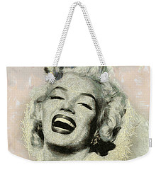 Smile Marilyn Monroe Black And White Weekender Tote Bag