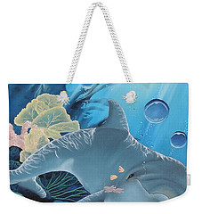 Weekender Tote Bag featuring the painting Smiley by Dianna Lewis